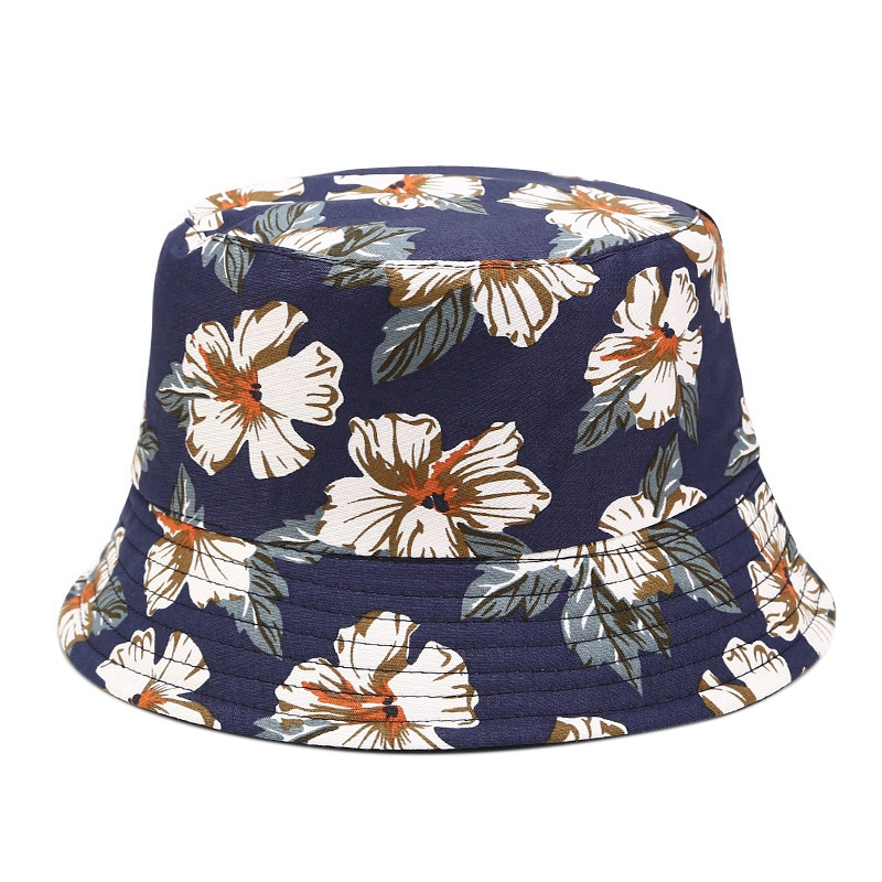 Women Double-Sided Wearing Bucket Cap Fishing Outdoor Panama Hip-Hop Cap Flat-Bottom Folding Fisherman Sun Hat