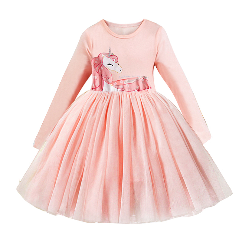 H7d97653168ca4d49b5639882f235f476Z Spring Autumn Long Sleeves Children Girl Clothes Casual School Dress for Girls mini Tutu Dress Kids Girl Party Wear Clothing