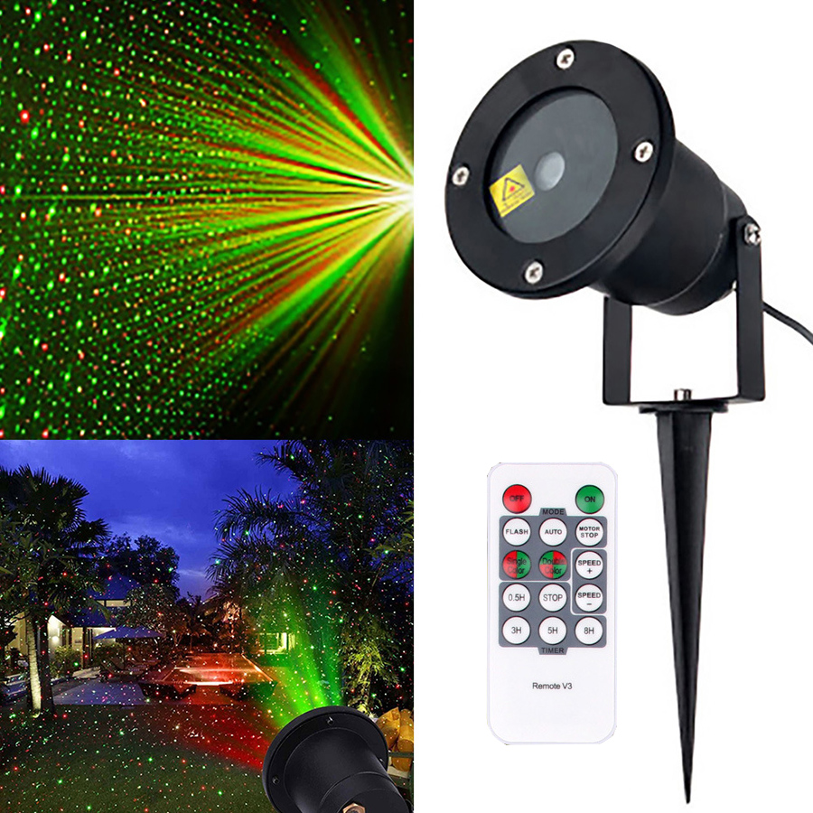 Thrisdar IP65 Outdoor RG Star Christmas Laser Projector Lamp Star LED Disco Stage Light Green Red Landscape Garden LED Spotlight-in Stage Lighting Effect from Lights & Lighting on