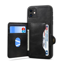 Newisdom Case For iPhone 11 pro max case Flip Leather cover Phone Wallet Card Slots Cases luxury bronw