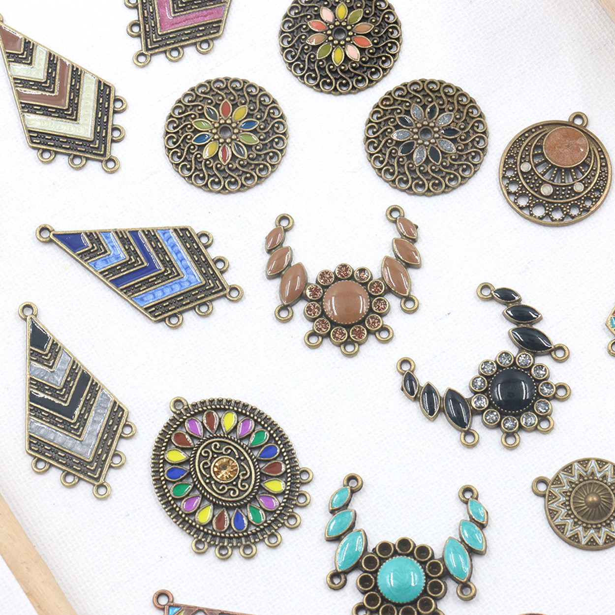 Enamel Metal Charms Earring Chandelier Connectors Drops Bails Wholesale Lot for Jewelry Making DIY Findings