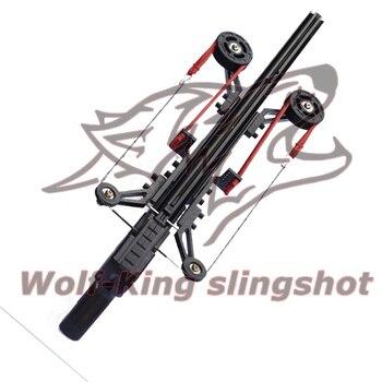 Classic Version Wolf King Powerful Slingshot Rifle Semi-Automatic 40BB Enhanced Edition Slingshot Rifle Sling Bow Traction 1