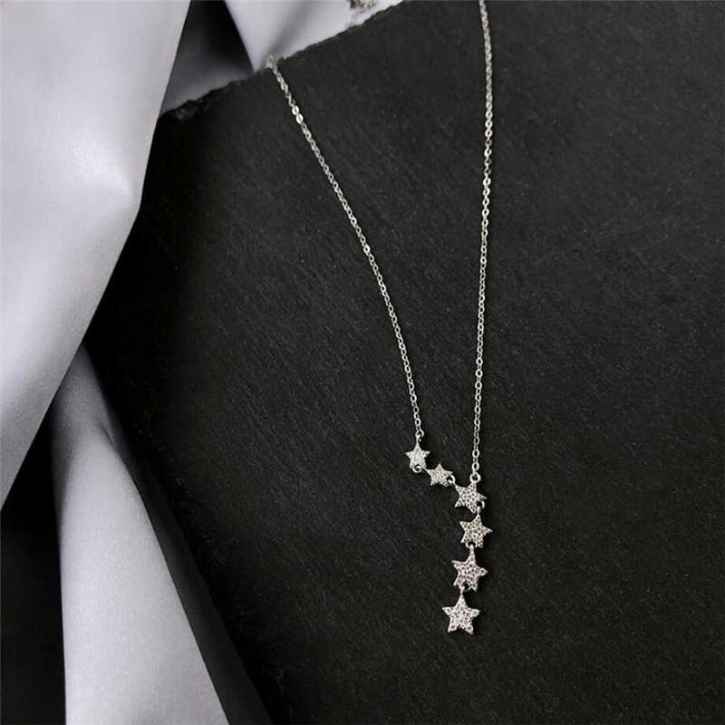 Sole Memory Exquisite Fashion Stars Sweet Romantic 925 Sterling Silver Clavicle Chain Female Necklace SNE463