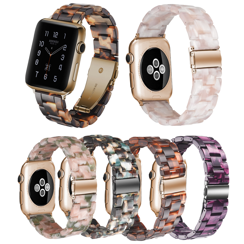 Resin Strap For Apple Watch Band 5 4 3 2 1 For Iwatch Band 42mm 38mm 44mm 40mm Accessories Bracelet Belt