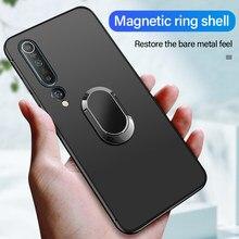 Ultra-Dunne Magnetische Houder Siliconen Telefoon Case Voor Xiaomi Mi 10 9 8 Lite T Pro Redmi Note 10 8 7 6 5 Vinger Ring Beugel Cover