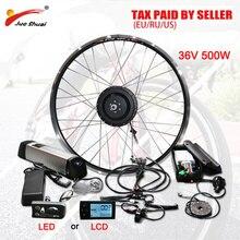 Duty Free No Tax 36V 500W eBike Conversion Kit with 36V10AH Battery Front Rear Hub Motor Wheel for E