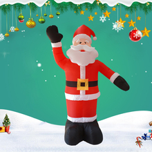 Christmas-Giant-Inflatable-LED Waving Santa Claus 2.4m Inflatable Decoration for Garden Holiday Xmas Decoration with Blower S24 giant christmas inflatable santa inflatable christmas father large santa claus free shipping