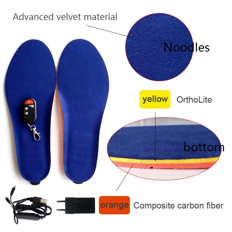 NIEUWE USB Elektrische Aangedreven Verwarmde Inlegzolen camping ski inlegzolen Voor vrouwen Schoenen Laarzen inlegzolen Houden Voeten Warm EUR MAAT 40 45-in Inlegzolen van Schoenen op  Groep 3