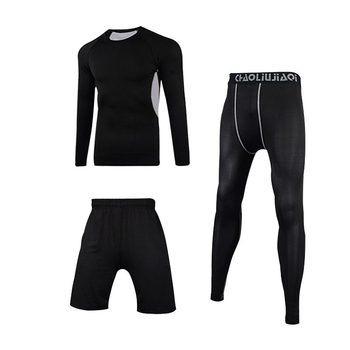 Men Sportswear Compression Sport Suits Quick Dry Running Sets Clothes Sports Joggers Training Gym Fitness Tracksuits Running Set 12