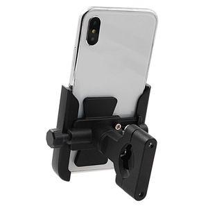 Image 4 - 360 Degree Universal Metal Bike Motorcycle Motorbike Mirror Handlebar Smart Phone Holder Stand Mount For iPhone Xiaomi Samsung 4