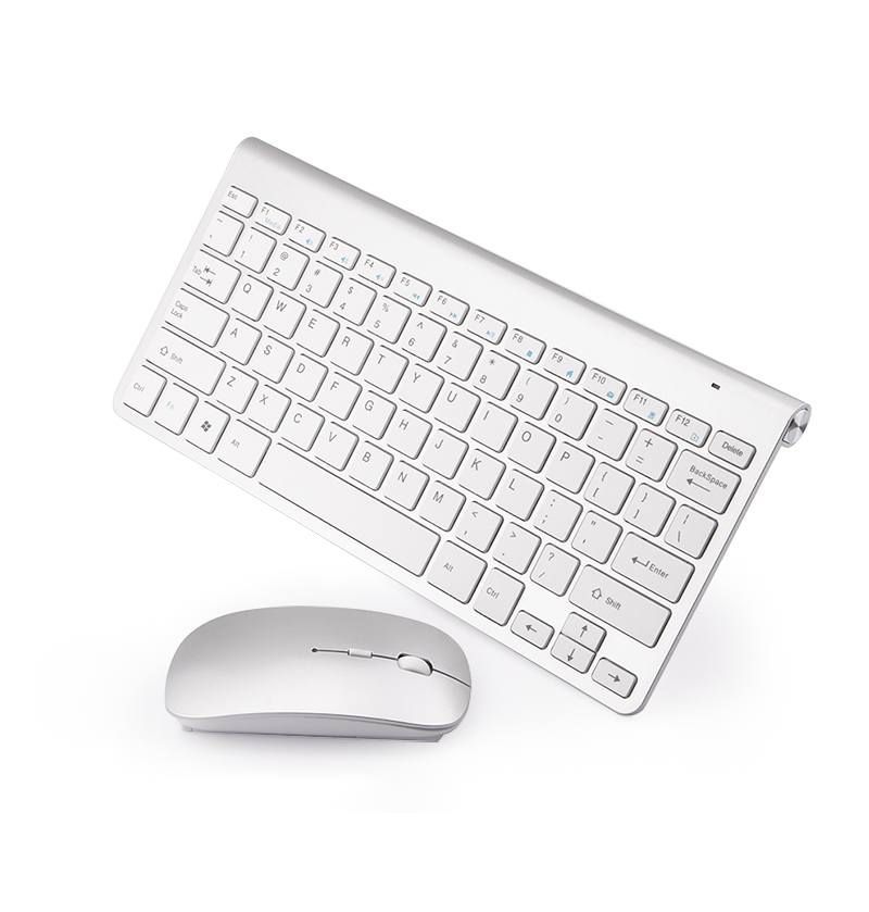 Мини тонкая 2,4G Беспроводная клавиатура и мышь набор с многофункциональными кнопками эргономичная клавиатура мышь комбинированная Бесшумн...