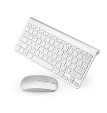 Mini Slim Wireless Russian Keyboard and Mouse Set with Multi-function Button Ergonomic Keyboard Mouse Combo Silent Mouse PC Mice