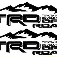 OFF ROAD Suitable for TOYOTA RACING DEVELOPMENT TACOMA TUNDRA TRUCK 4X4 DECAL 2 TRD STICKER