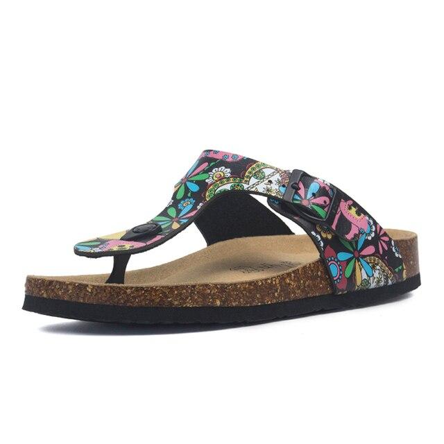 Zomer Vrouwen Kurk Slippers Pu Leer Vrouw Sandalen Fashion Slippers Voor Vrouwen Muilezel Klompen Slippers Vrouwelijke Schoeisel