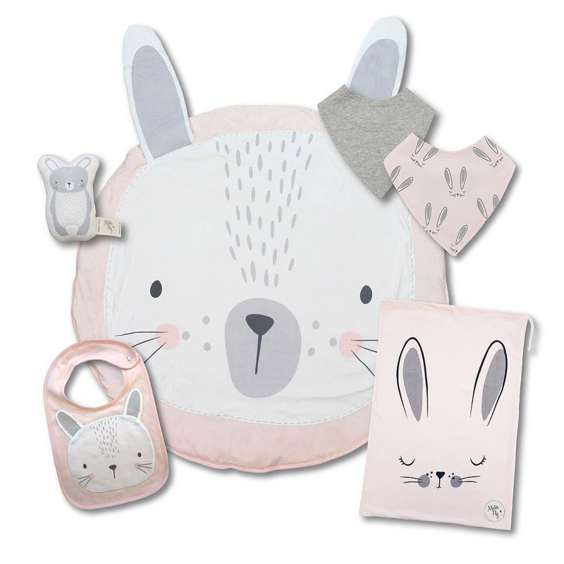 Sallybaby Explosion-style Floor Mat European And American Rabbit Printed Cotton Children's Crawling Mat Game Pad Children's Home