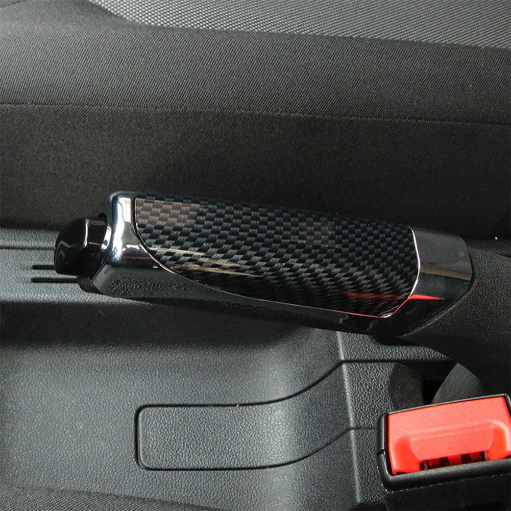 Universal Car Hand Brake Cover ABS Smooth Comfortable Carbon Fiber Style Protector Decor Cover Auto Interior Accessories