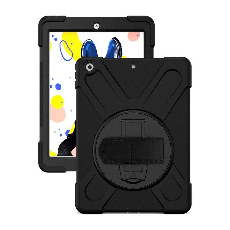 Funda protectora resistente a los golpes para el nuevo iPad de 10,2 pulgadas 2019 con Protector de pantalla/soporte/correa de mano/correa de hombro