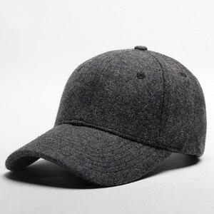 2019 autumn and winter woolen warm baseball cap men plus velvet thickening hat outdoor warm hat