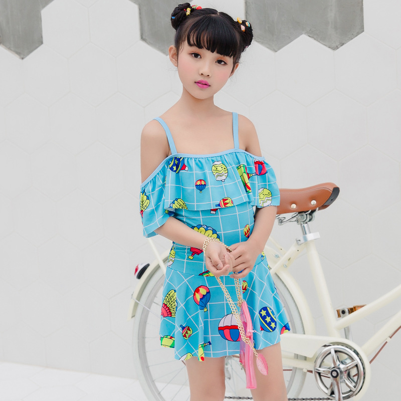 One-piece Swimsuit For Children GIRL'S Cute Cartoon Printed Comfortable Briefs Skirt Swimming Suit Nt109816