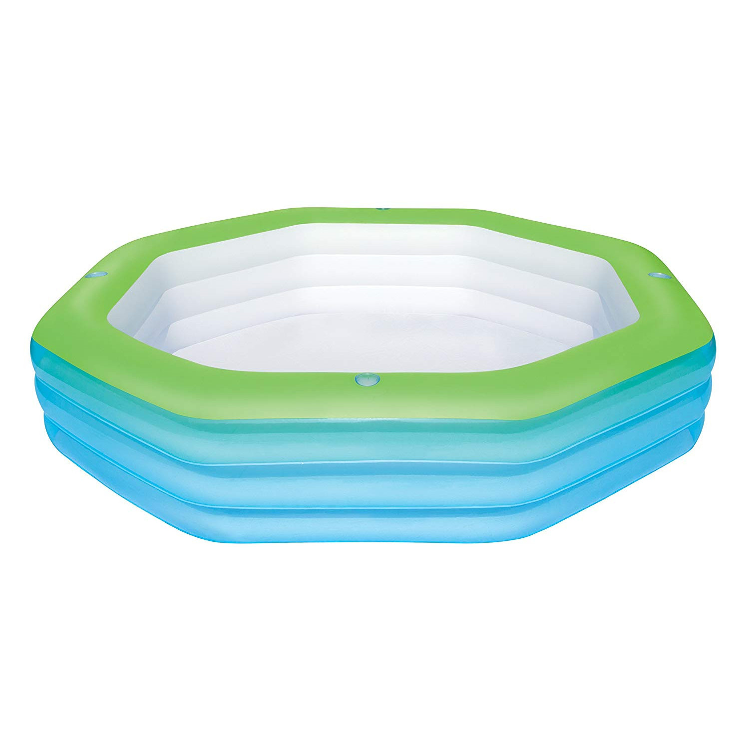 Bestway Inflatable Pool Deluxe Child Octagon Family 250 Cm X 250 Cm X 51 Cm-54119-