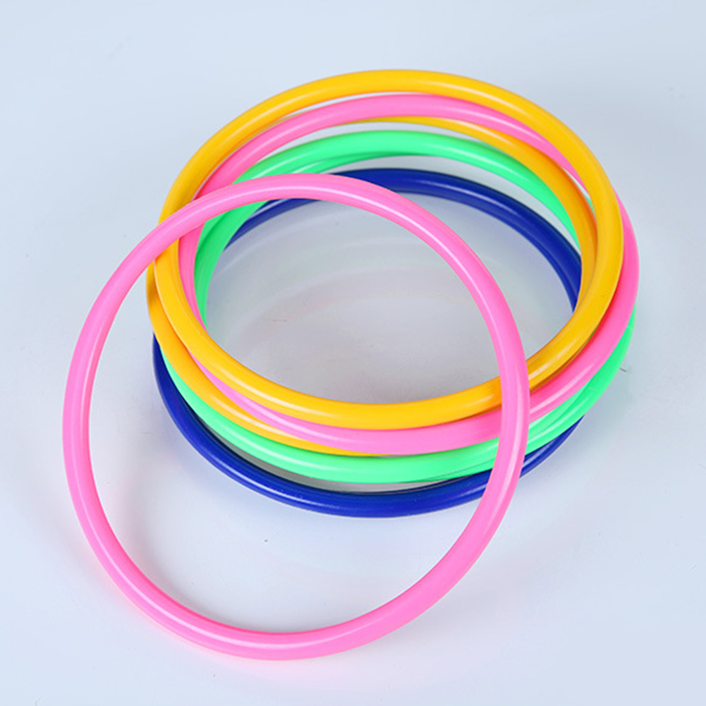 10pcs משחק הטבעות ילדי משחקי פלסטיק צבעוני ספורט זריזות חיצוני בפועל צעצוע כיף לזרוק טבעת מהירות גן ילדים חישוק בריכה