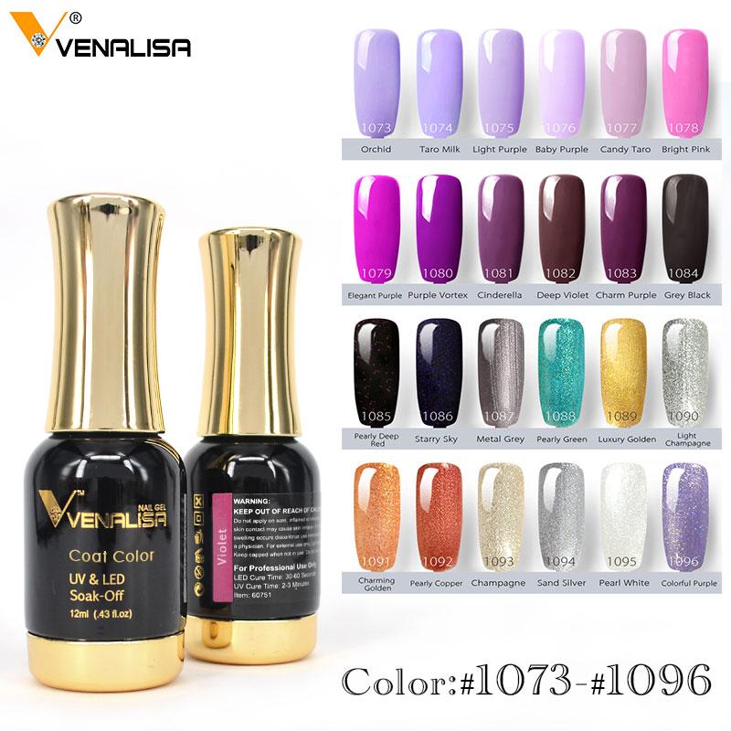 Nail Art 2020 New Venalisa Nail Paint Gel 12ml 120 Colors Gel Polish Nail Gel Soak Off UV Gel Polish Nail Lacquer Varnishes