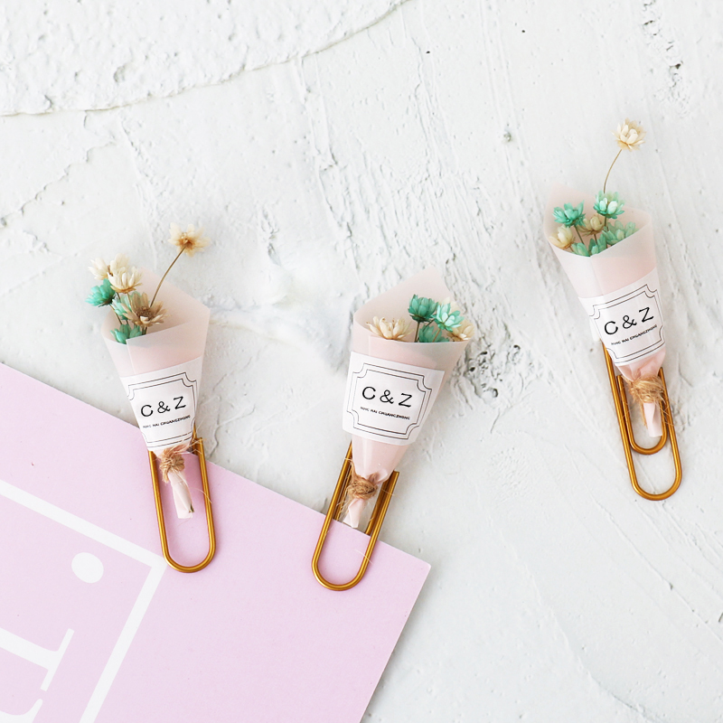 TUTU Cute Kawaii Korean Handmade Office School Flower Paper Clips Bookmark Candy Girls Memo Organizer Clips Stationery H0357