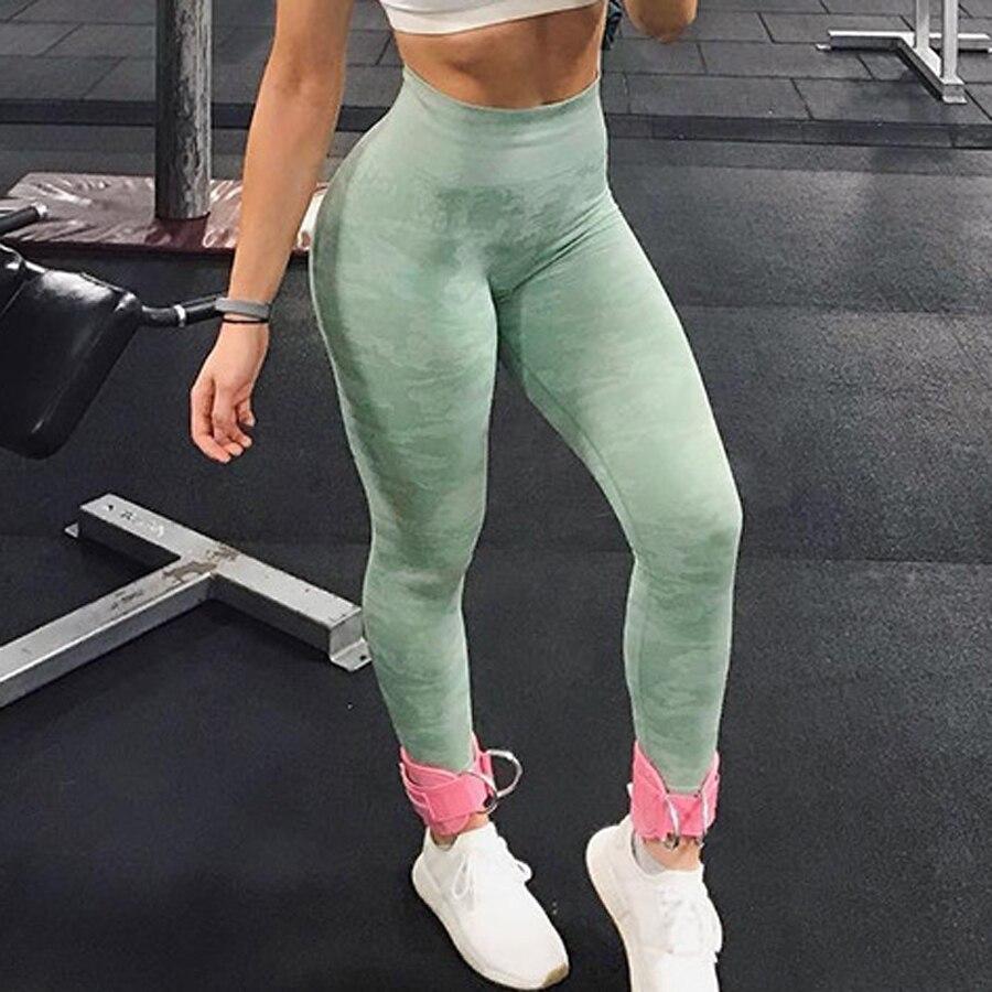 Binand Camo Gym Legging Sport Wanita Kebugaran Yoga Celana Push Up Seamless Legging Kebugaran Olahraga Legging Olahraga Celana Yoga Pants Aliexpress
