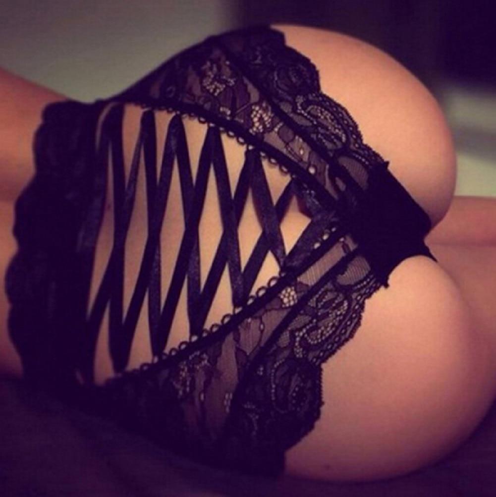 Hot Women Sexy Lingerie Bottom Lace Floral Brief Panties Thong High Waist Knicker