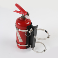 in Silver + Black Auto Car Fire Extinguisher Fixing Holder For Jeep Wrangler TJ JK JL 1997 2019 for auto parts