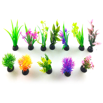 9CM/12cm akvaryum dekor Simulation Artificial plants Aquarium Decor Water Weeds Ornament Plant fish tank aquarium Grass