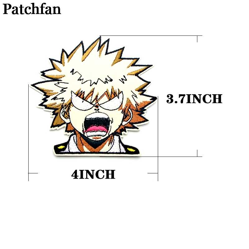 Patchfan Mijn Hero Academia Cartoon Iron On Patches Kleding Embroideried Patchwork Accessoires Custom Badges Groothandel A2336