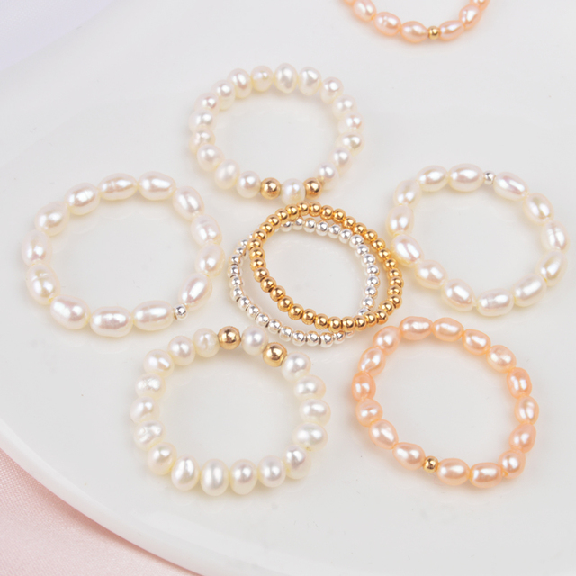 ASHIQI Mini Small Natural Freshwater Pearl Rings for Women Real 925 Sterling Silver Jewelry for Women wholesale Fashion Gift 1