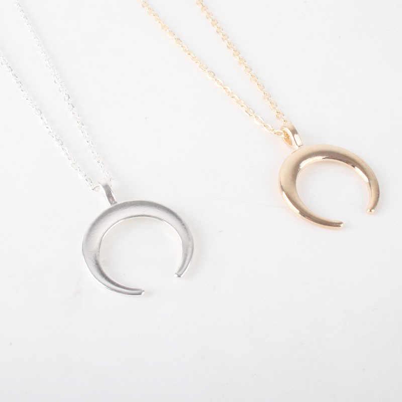 Simple lune femmes clavicule chaîne collier bijoux accessoires tour de cou mode