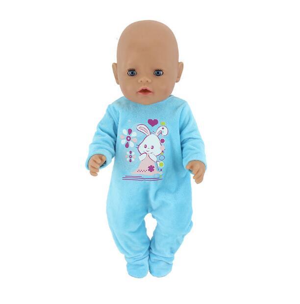 "2x 43cm Baby Girl Doll Unicorn Dress PU Shoes 18 /""American Doll Casual Wear"