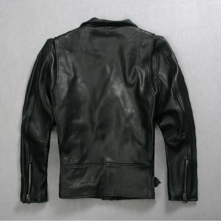 Geniune Leather Jacke For Men Sheepskin Leather Motocycle Thicken Jackets Plus Size 5XL Jaqueta Masculina MF121