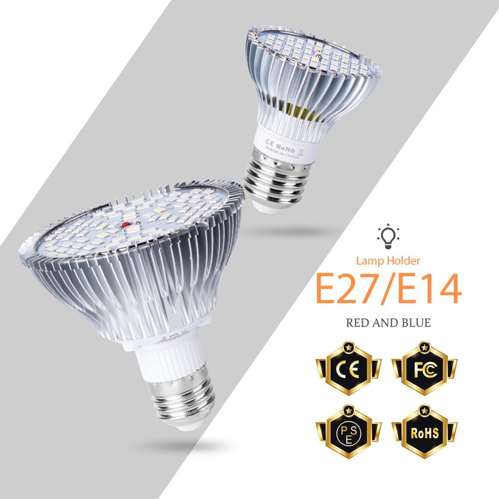 LED Grow Light E27 Full Spectrum LED Plant Growth Lamp 220V 30W 50W 80W Garden Greenhouse LED For Plants Indoor Indoor Lighting