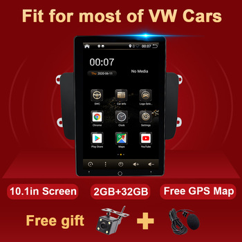 Android Car Radio GPS For VW Passat B6 B7 Polo GOLF 5 6 Amarok Touran Jetta Tiguan Magotan CC T5 Seat Multimedia Autoradio 2 DIN image