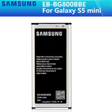 SAMSUNG 원래 배터리 EB BG800CBE EB BG800BBE 삼성 갤럭시 S5 미니 S5MINI SM G800F G870a G870W EB BG800BBE 2100mAh NFC