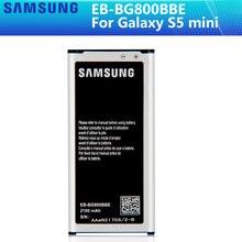 SAMSUNG Original Battery EB BG800CBE EB BG800BBE For Samsung GALAXY S5 mini S5MINI SM G800F G870a G870W EB BG800BBE 2100mAh NFC