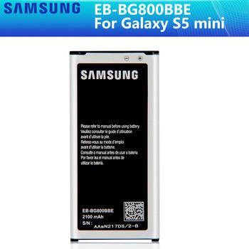 SAMSUNG Original Battery EB-BG800CBE EB-BG800BBE For Samsung GALAXY S5 mini S5MINI SM-G800F G870a G870W EB-BG800BBE 2100mAh NFC original samsung battery eb l1g6llu eb l1g6lla for samsung galaxy s3 i9300 gt i9301i i9308 l710 i535 genuine battery nfc 2100mah