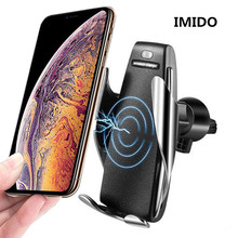 Car Qi Fast Wireless Charger Phone Holder for IPhone Xs Max Xr X Samsung S10 S9 Intelligent Infrared Wirless Charging