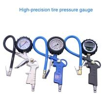 Auto Tire Pressure Gauge For Car Motorcycle SUV Inflator Pumps Tire Repair Tools Pressure Gun Type For Air Compressor Durable