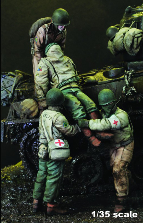 1/35 Modern Injured Include 4 (NO TANK )    Resin Figure Model Kits Miniature Gk Unassembly Unpainted