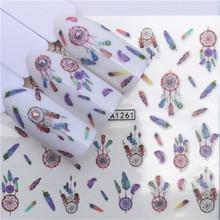 1 sztuk paznokci naklejki zwierząt woda naklejka Ocean kot wzór w rośliny 3D Manicure naklejki zdobienie paznokci dekoracje m3N1 tanie i dobre opinie Jedna jednostka CN (pochodzenie) Naklejka naklejka 1 PCS