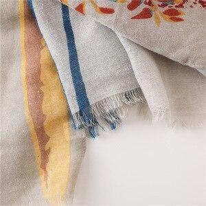 Image 5 - Kích Thước Lớn Cotton Thun Tua Rua Khăn Choàng Cổ Hoa Hoa Văn Chống Nắng Lớn Khăn Choàng Cổ Chất Lụa Đi Biển Cho Người Phụ Nữ