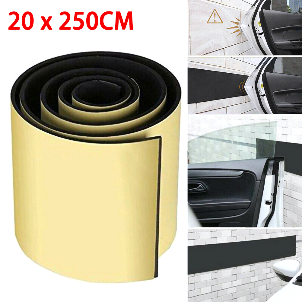 Auto Door Protector Garage Wall Bumper Sticker Parking Corner Strips Protection title=