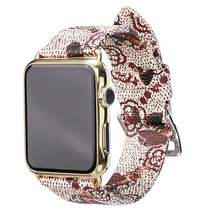 цена на Bee Strap Loop Leather Bands 44/42mm 40/38mm For Apple  Bracelet Watch Cute Bee Pattern Watch Band For Iwatch Series 5/4/3/2/1