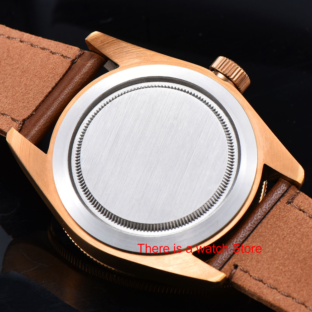 Corgeut 41mm Automatic Watch Men Military Black Dial Wristwatch Leather Strap Luminous Waterproof Sport Swim Mechanical Watch 5