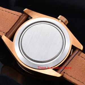 Image 5 - Corgeut 41mm automatyczny zegarek męski wojskowy czarny Dial skórzany pasek do zegarka Luminous wodoodporny Sport Swim mechaniczny zegarek